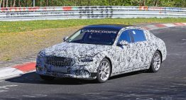 2021 S-Class caught in Mercedes-Maybach guise on the Ring