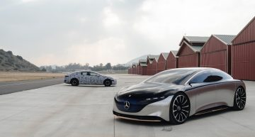 Mercedes works on AMG variant with 600 hp for the EQS electric luxury sedan