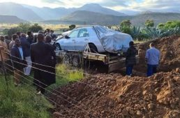 South African politician buried in his Mercedes
