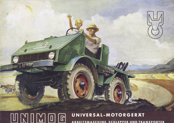 The Mercedes-Benz Unimog was initially designed as a tractor