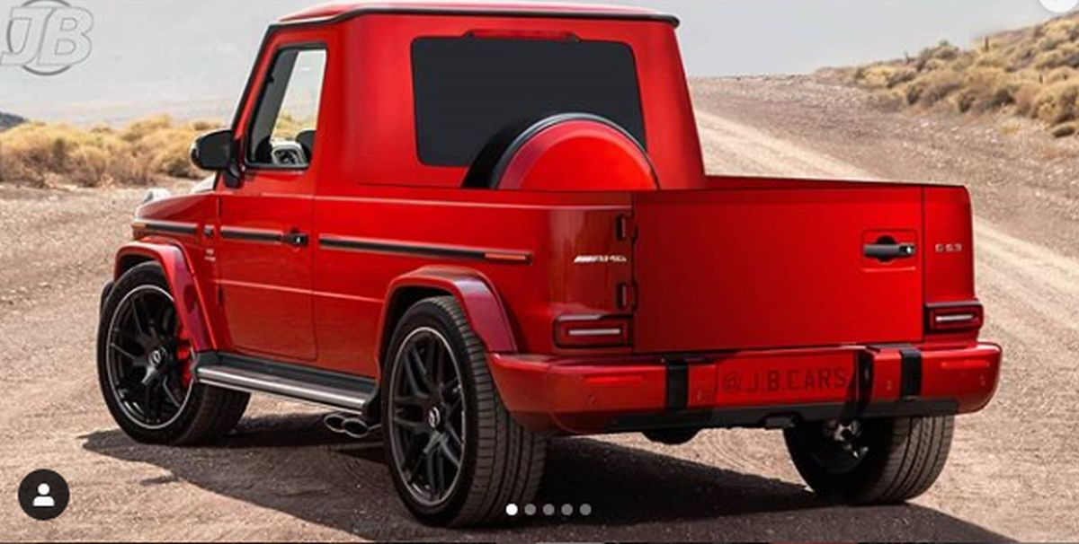 Mercedes G-Class pick-up rear