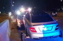 Young man runs away from home with his parents' Mercedes and hits a record speed