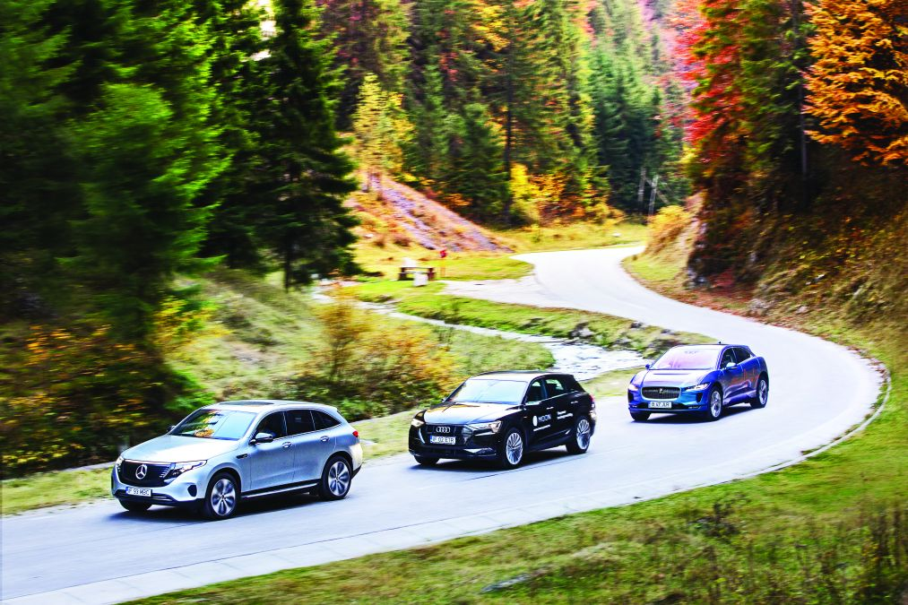 Comparison test Mercedes EQC vs Jaguar I-Pace, Audi e-tron: the electric dream