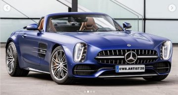 What would a really retro Mercedes SL look like?