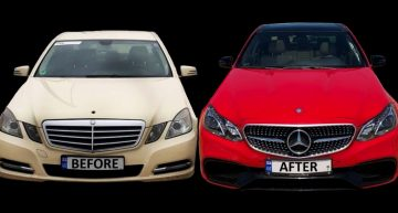 How can a Mercedes-Benz E-Class be converted into its facelift version?