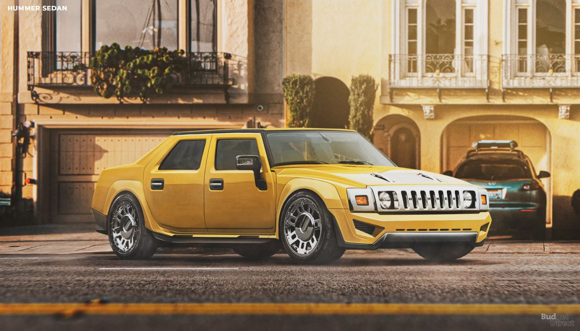 Hummer reimagined as a sedan