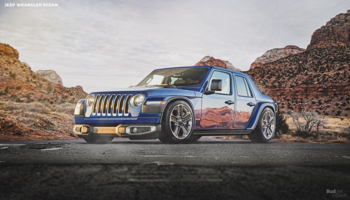 Jeep Wrangler reimagined as a sedan