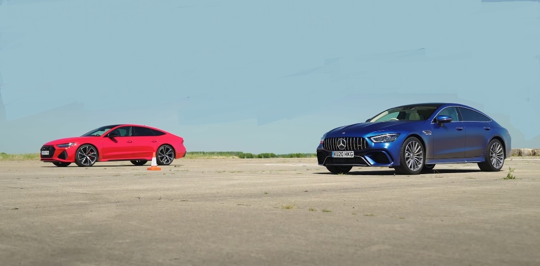 Mercedes-AMG GT 63 S meets arch enemy Audi RS7