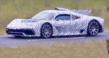 First spy photo Mercedes-AMG One hypercar (2021)