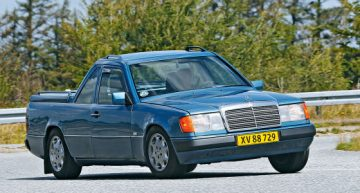 A Mercedes-Benz E-Class became a pick-up in Denmark. PHOTO GALLERY