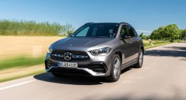 First ride in Mercedes GLA 250 e prototype