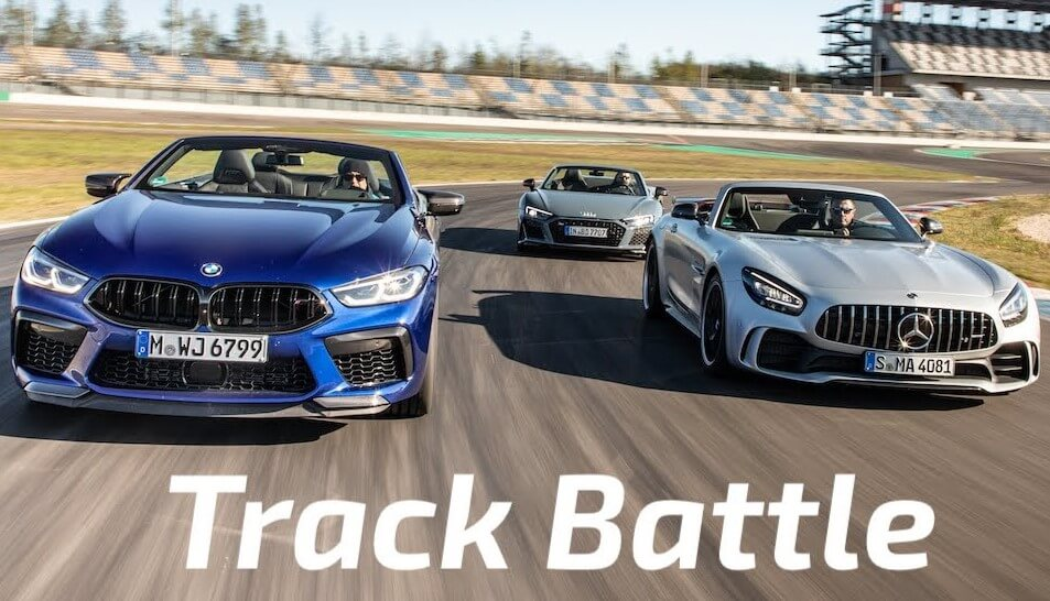 Mercedes-AMG GT R takes on the Audi R8 and the BMW M8 on the racetrack