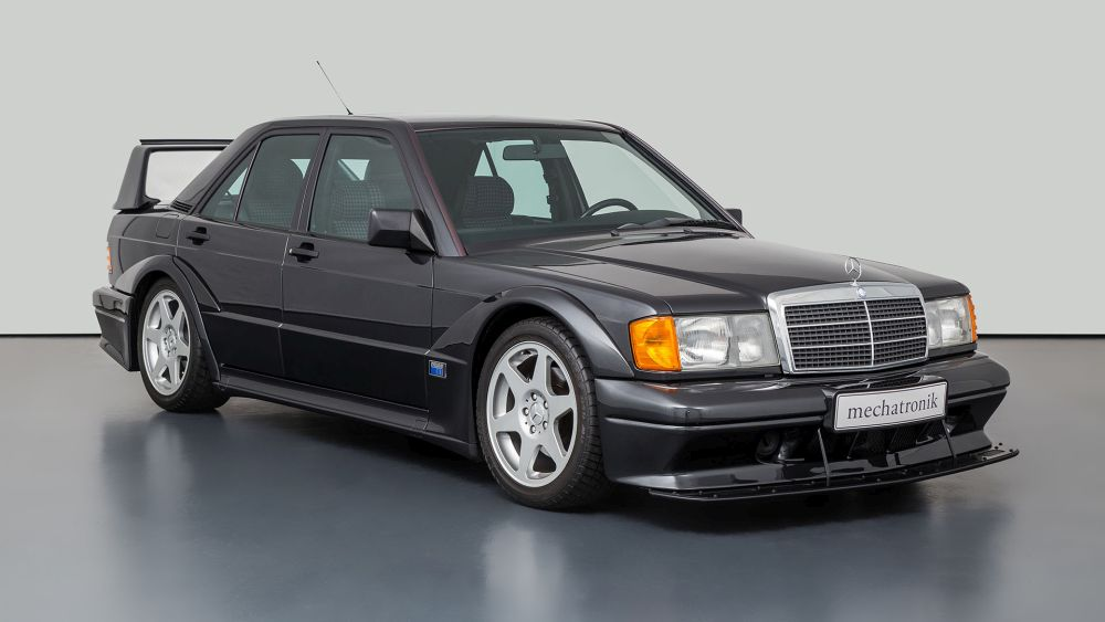 A Mercedes 190 E 2.5-16 EVO II with only 9,307 km on board for sale
