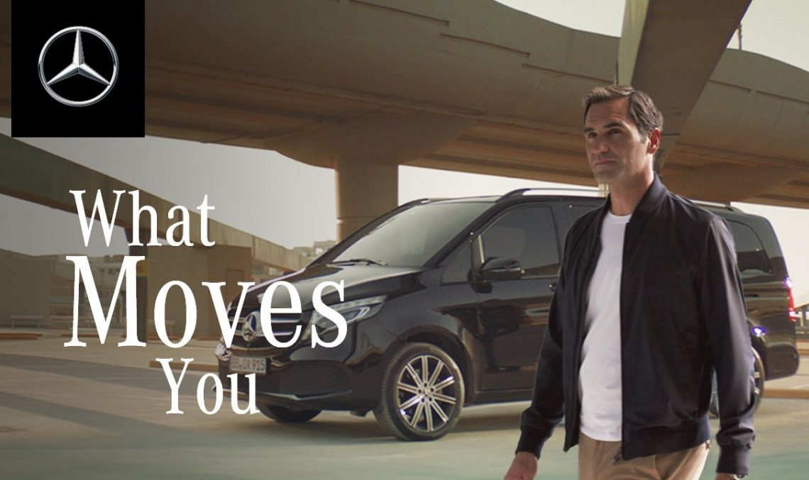"Roger Federer and the Mercedes-Benz V-Class: ""Time is funny"""
