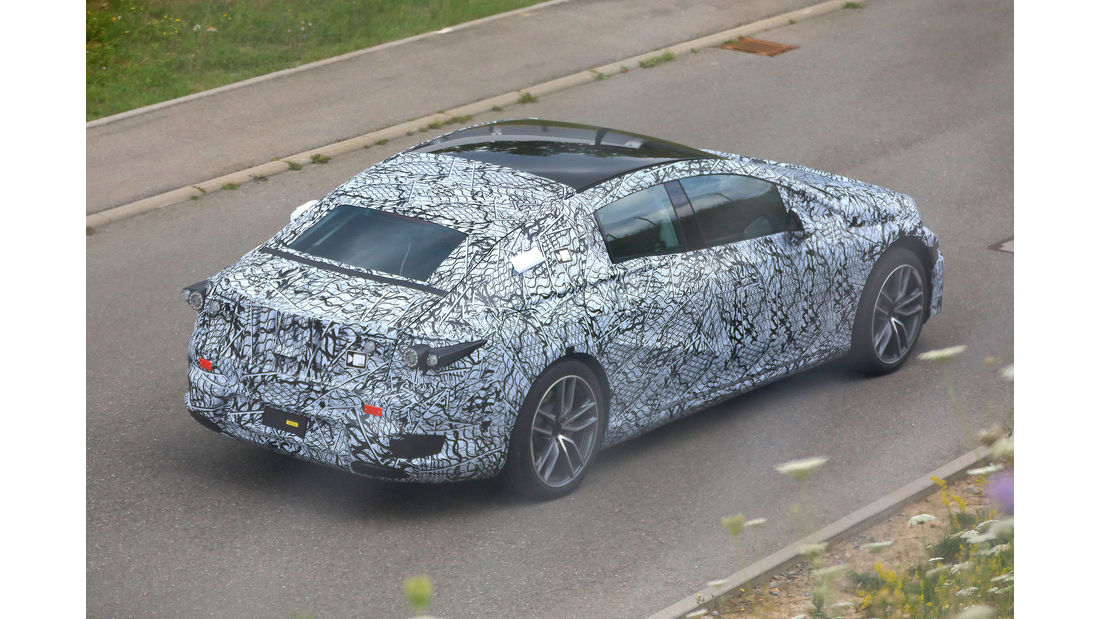 Mercedes EQS spy photos 2021