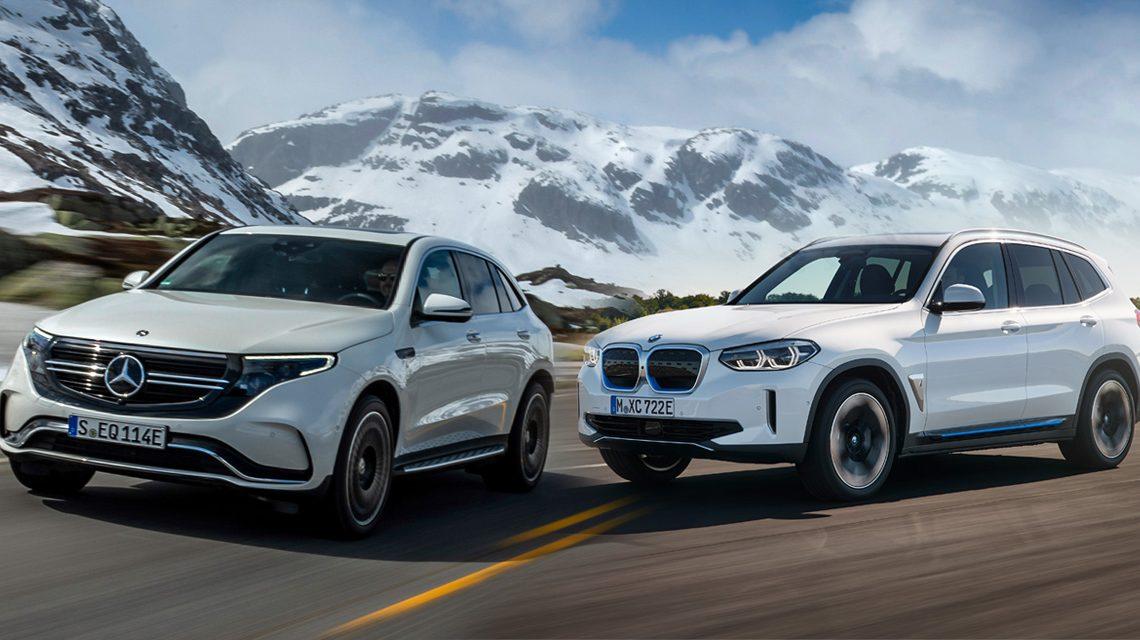 First comparison Mercedes EQC vs BMW iX3