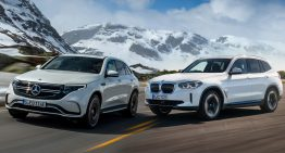 First comparison Mercedes EQC vs BMW iX3