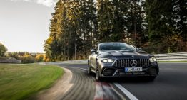 Mercedes-AMG GT4-door coupe wants to break the record of the new Porsche Panamera Turbo S