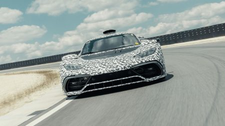 Mercedes-AMG Project ONE performs speed testing at the Nurburgring (1)