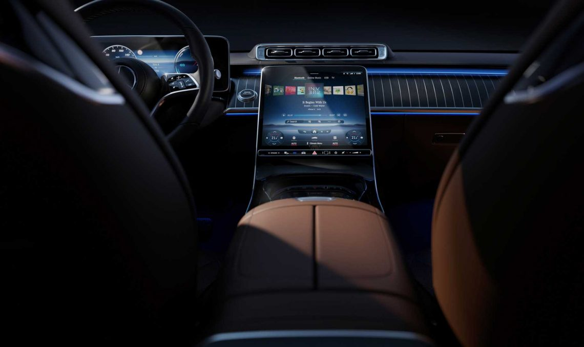 Mercedes-Benz shows more photos from inside the Mercedes S-Class W223 flaghship