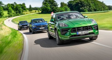 Comparative test Mercedes-AMG GLC 43, Porsche Macan GTS, BMW X3 M40i