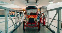 1904 Mercedes Simplex 60 hp that belonged to Emil Jellinek leaves the Mercedes-Benz Museum