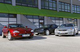 Emotional comparison test by auto motor und sport: Mercedes SL 500 vs Jaguar XK8, Maserati Coupe