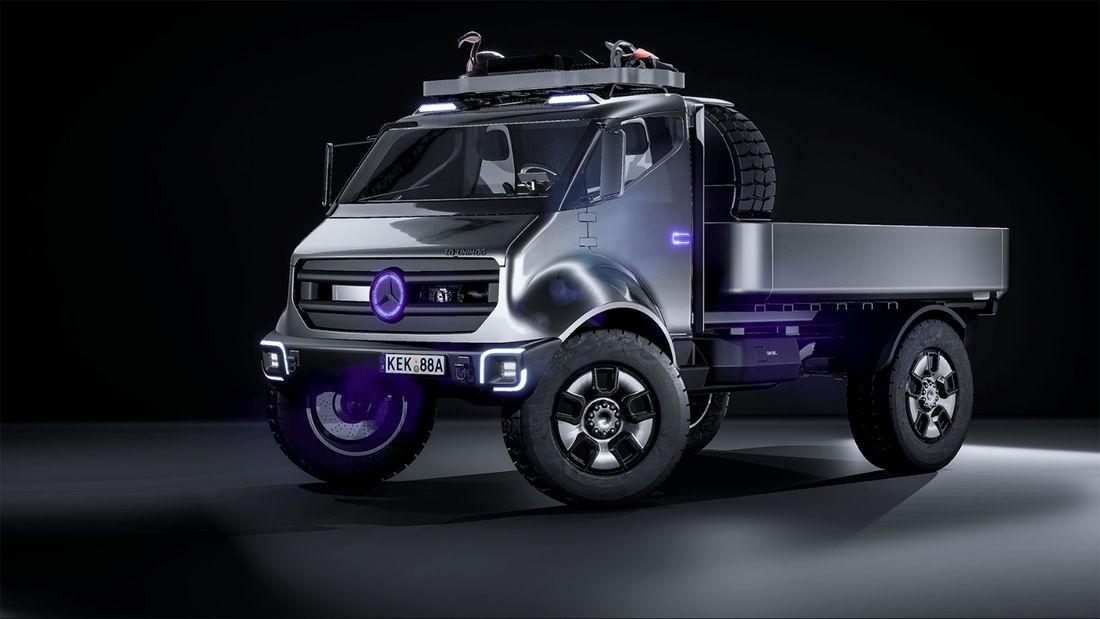 What would a Mercedes EQ Unimog look like?