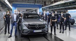 The 9 millionth car produced in Bremen is a Mercedes EQC