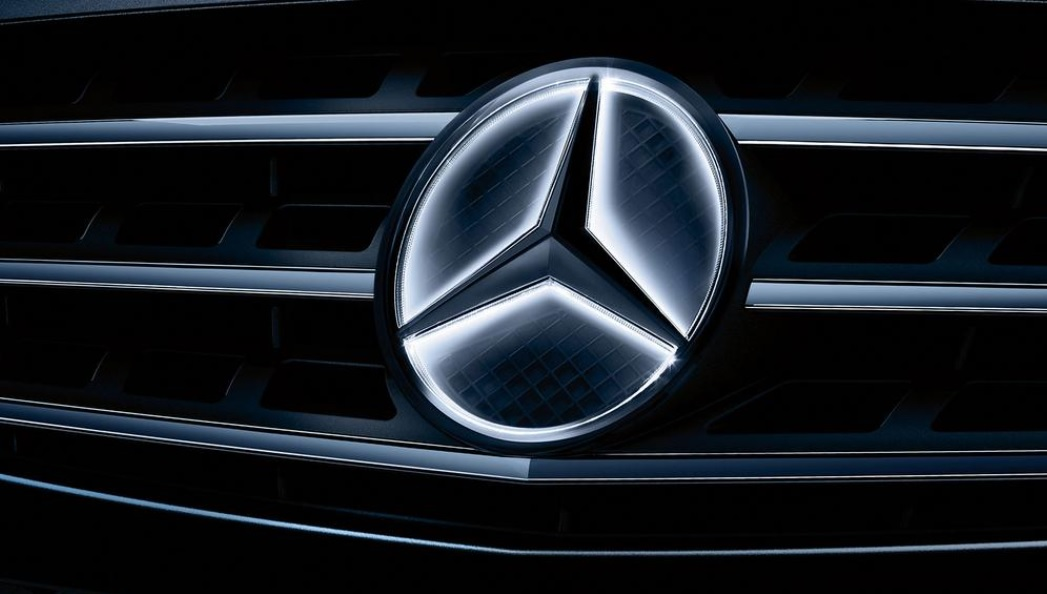 The Mercedes-Benz illuminated star logo is the subject of a massive recall