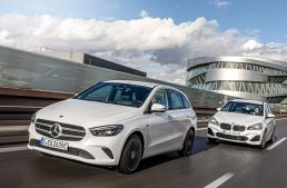 The new Mercedes B 250 e up against BMW 225xe Active Tourer