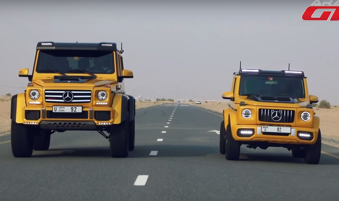 Fake Mercedes-AMG G63 4×4 Squared fights the real deal