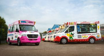 A company just ordered 55 Mercedes-Benz Sprinter units. They will become ice cream vans
