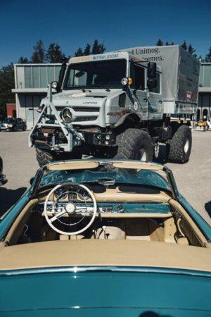 Mercedes-Benz Unimog versus passenger cars (1)