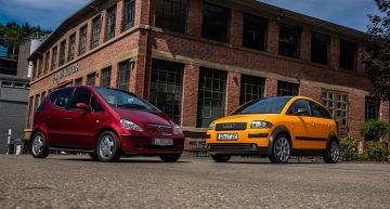 Going back in time: Mercedes A-Class W168 vs Audi A2