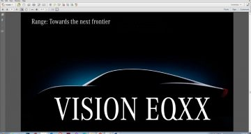 Mercedes Vision EQXX with a range of up to 1200 km