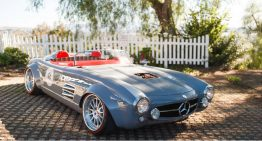 Mercedes-Benz 300 SL Roadster undergoes tuning. This is the result