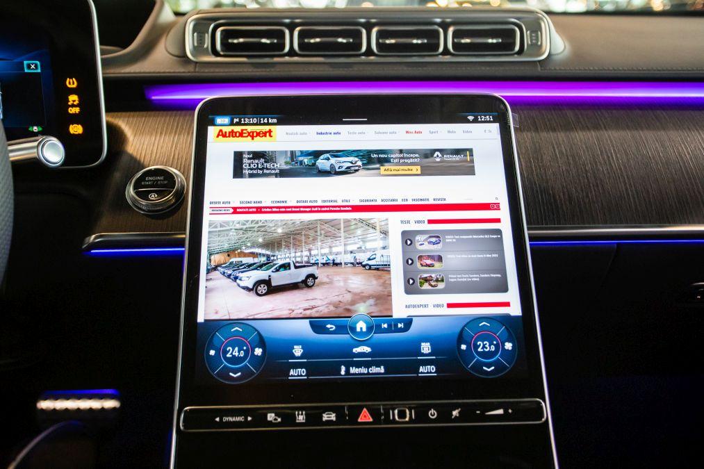 Mercedes S-Class W223 interior live