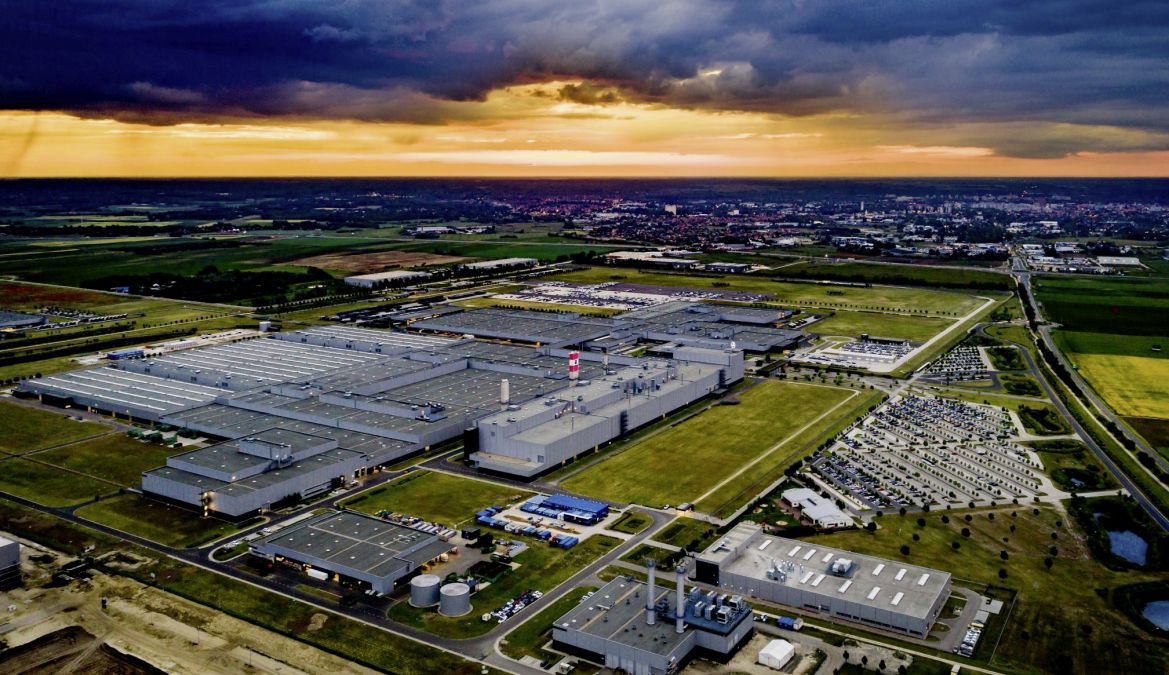 Mercedes plant in Kecsemet.