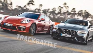 The Porsche Panamera Turbo takes on the Mercedes-AMG GT 63 S 4-Door Coupe on the racetrack