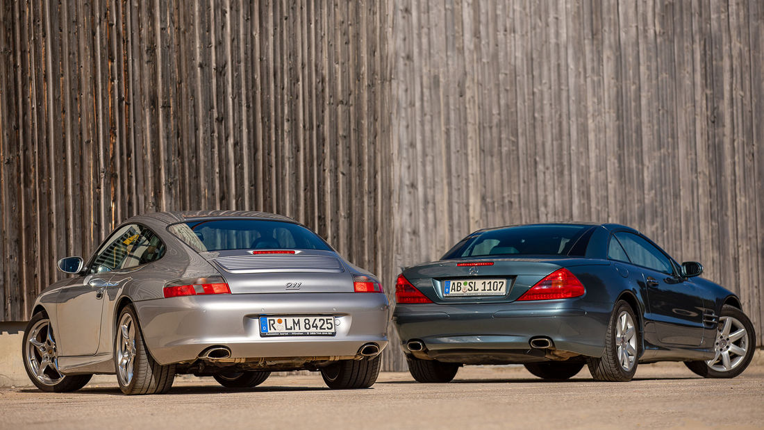 Mercedes SL R230 vs Porsche 911 996