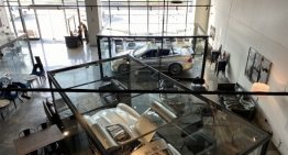 Mercedes CLK DTM Cabrio and other very rare Mercedes as a permanent exhibition in a cafe in Abu Dhabi