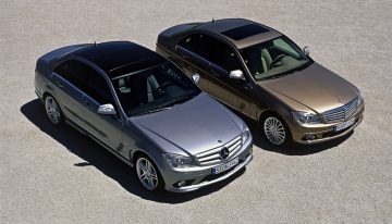 The new Mercedes C-Class W206 without star on the hood