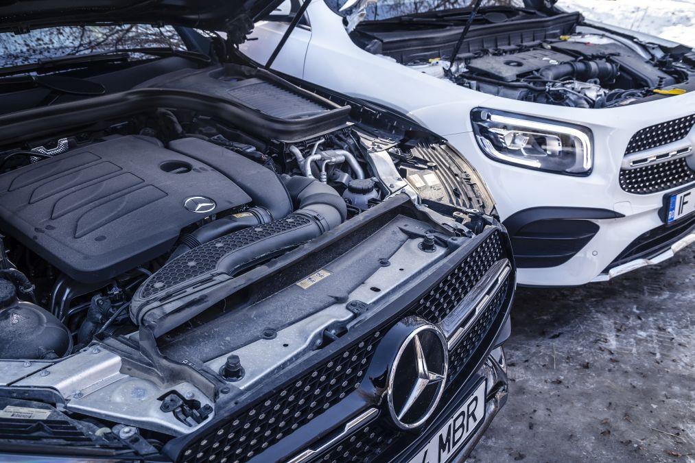 engines mercedes GLB vs Mercedes GLC