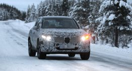 Next Mercedes GLC X254 in winter tests
