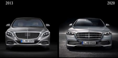 Mercedes-Benz S-Class former and new generation (1)