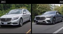 Mercedes-Benz shows the exact differences between the new and former S-Class generations