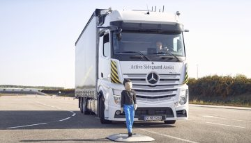 The innovative feature that the Mercedes-Benz trucks receive