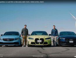 Drag race BMW M4 vs Audi RS5, Mercedes-AMG C 63S (Video)