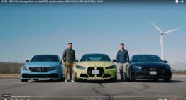Drag race BMW M4 vs Audi RS5, Mercedes-AMG C 63S (Video)